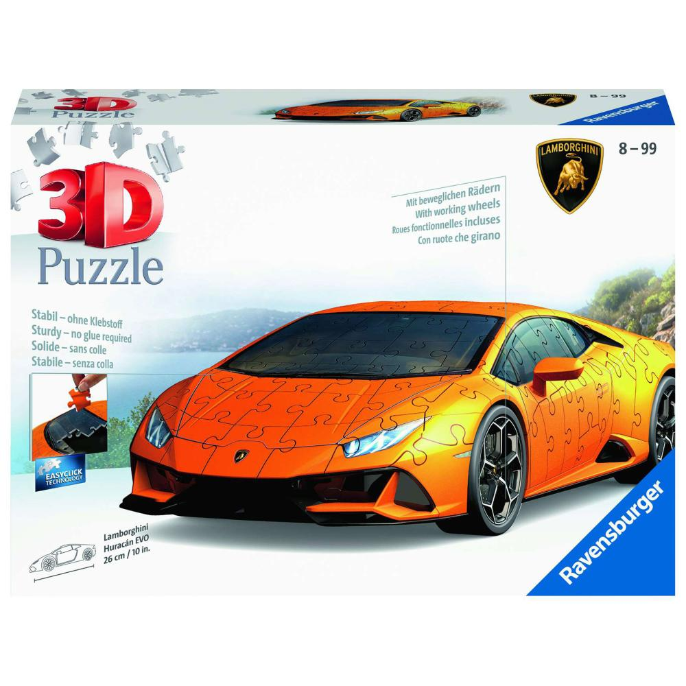 Ravensburger 3D-Puzzle Lamborghini Huracán Evo Puzzles Kinderpuzzle 108 Teile