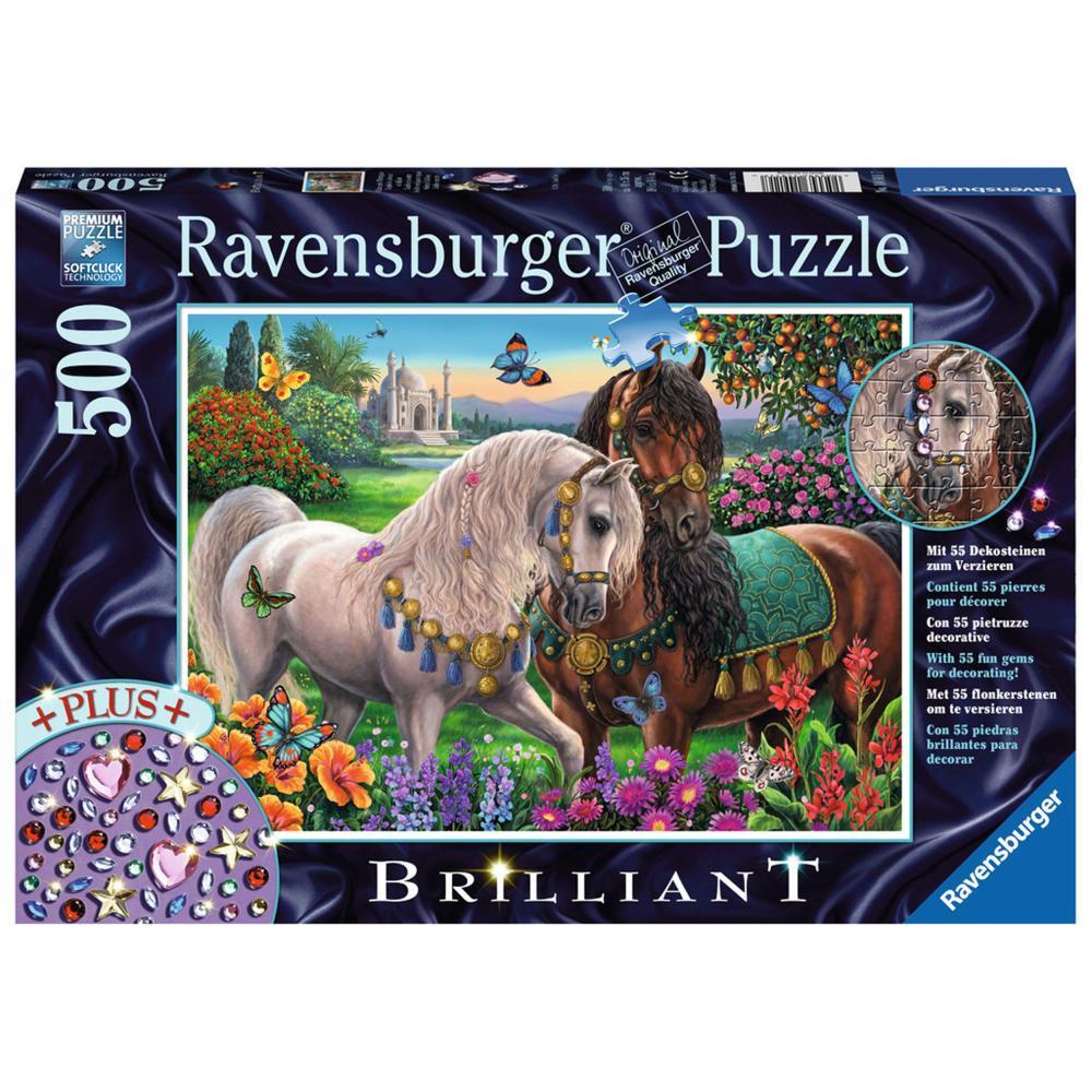 Ravensburger Puzzle Glitzerndes Pferdepaar Brilliant Erwachsenenpuzzle 500 Teile