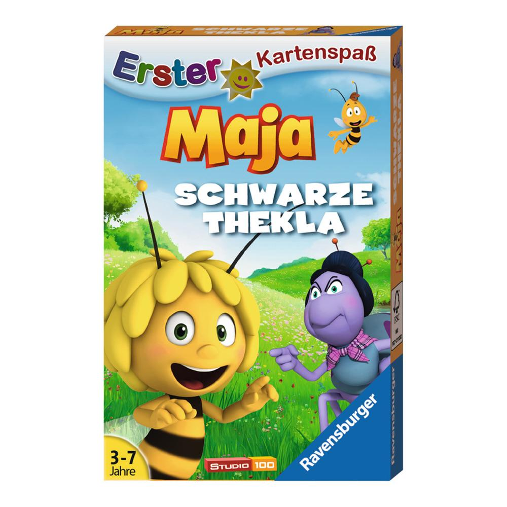 Ravensburger-Kindergarten-Erster-Kartenspass-Biene-Maja-Schwarze-Thekla-Spiel