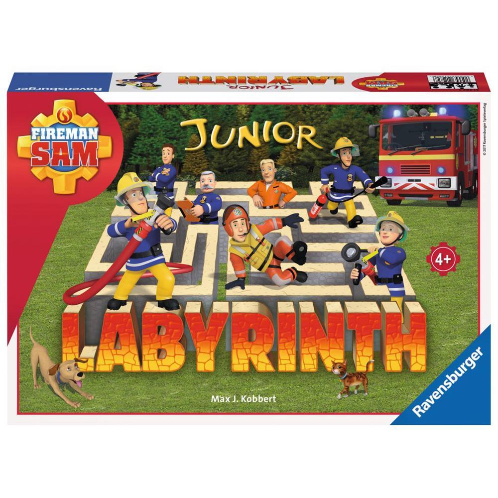 Ravensburger-Fireman-Sam-Junior-Labyrinth-Brettspiel-Schiebespiel-Kinderspiel