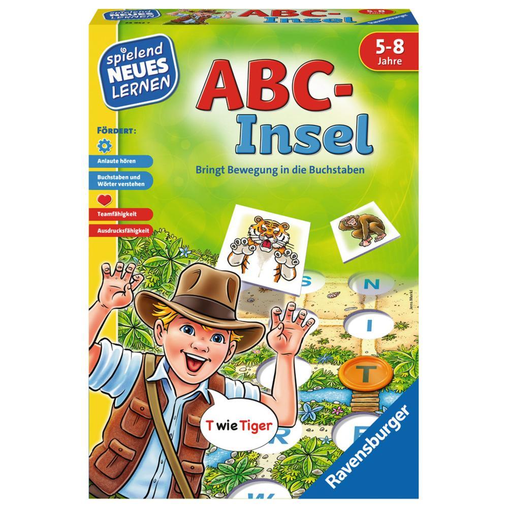 100% Vero Ravensburger Giochiamo Nuovo Imparare Abc-isola Lettere Gioco Gioco Di Lingua Gioco-l Sprachspiel Spiel