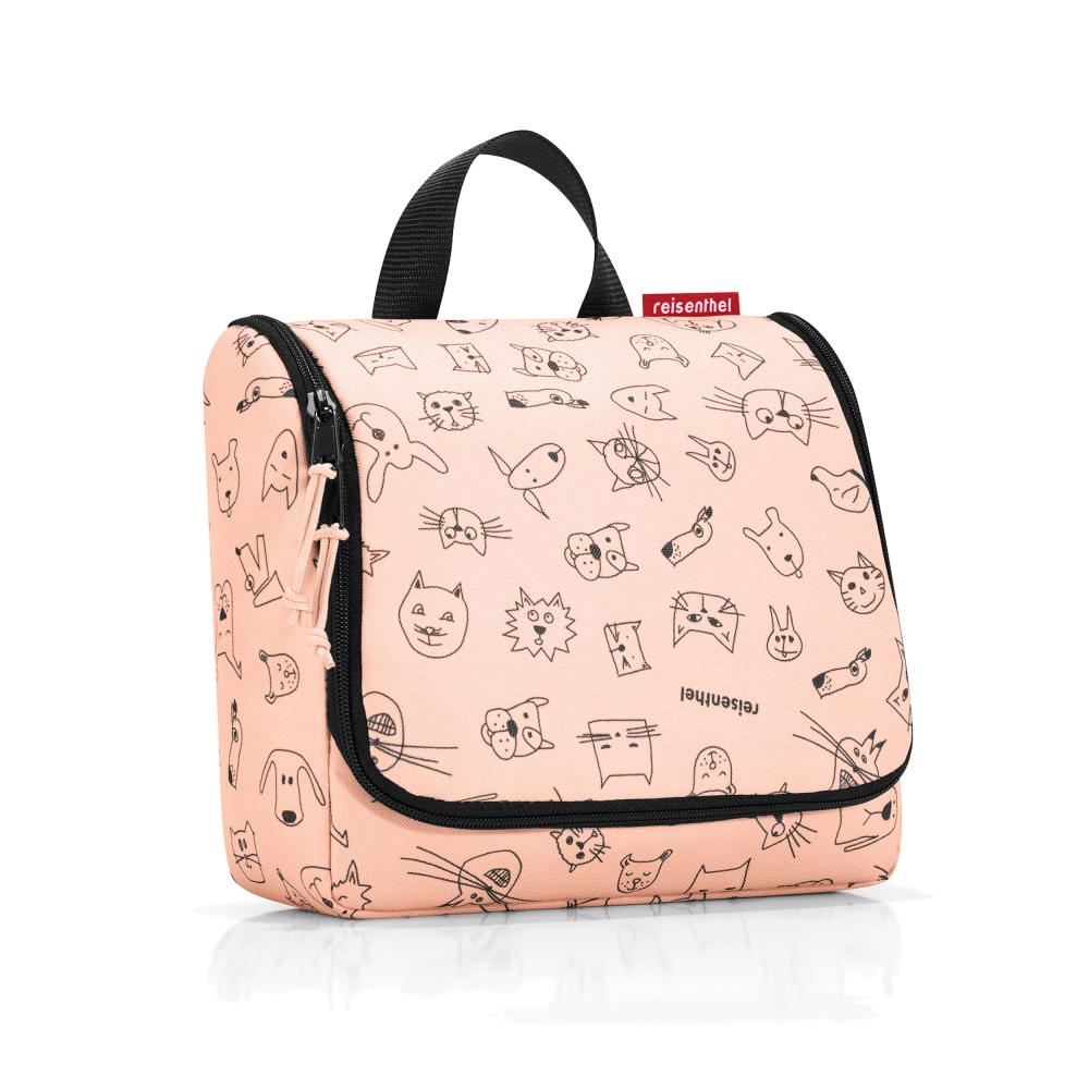 reisenthel toiletbag kids Tasche Beautycase Kulturbeutel Kosmetik cats dogs rose
