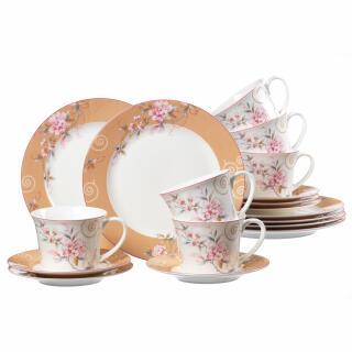 Ritzenhoff & Breker Soprina Bone China Coffee Tableware 18 Pieces, High  Quality Porcelain, Dishwasher Safe, 41002 at About-Tea de Shop
