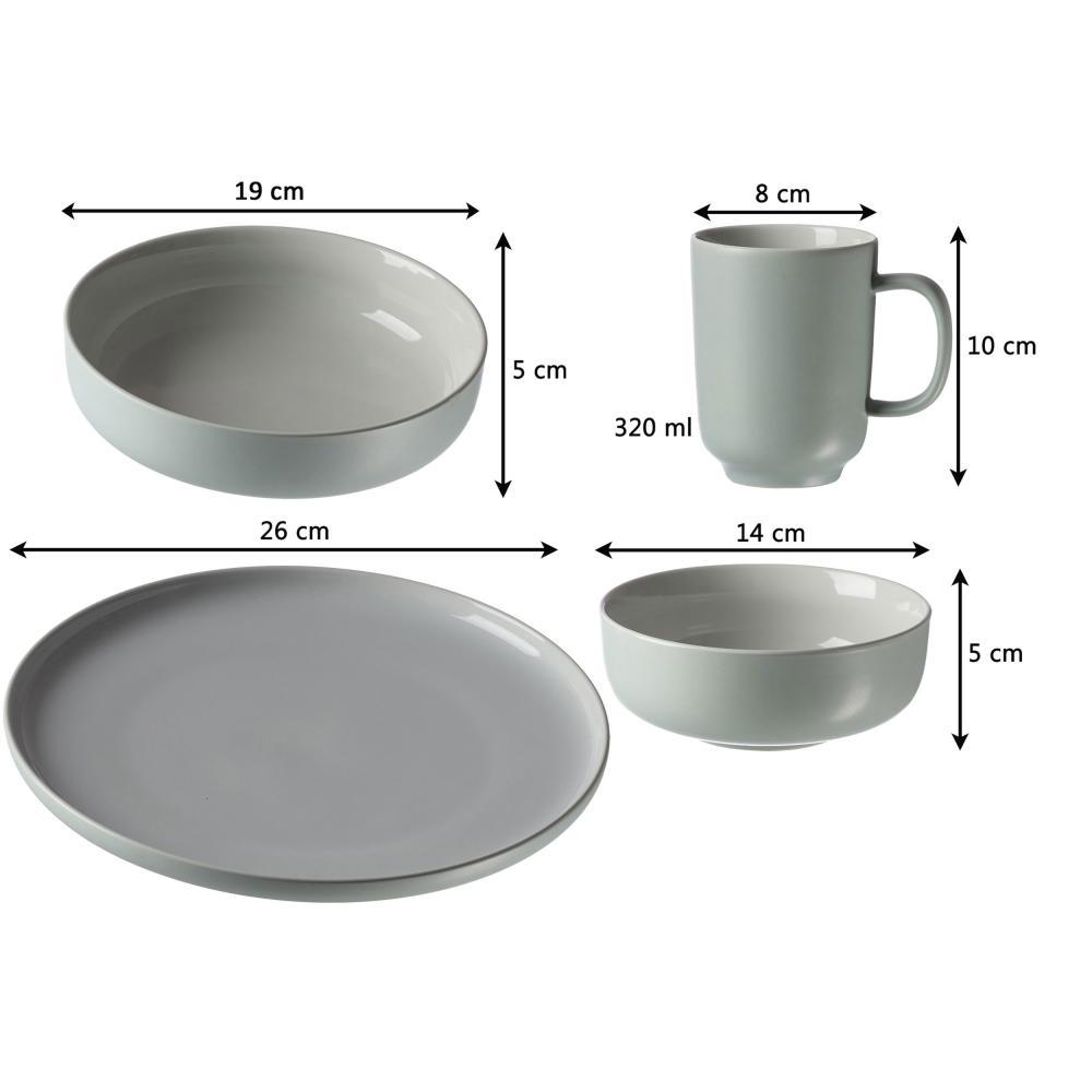 Ritzenhoff-amp-Breker-JASPER-Kombiservice-16-tlg-Geschirrset-Rund-Steinzeug-Mint thumbnail 2