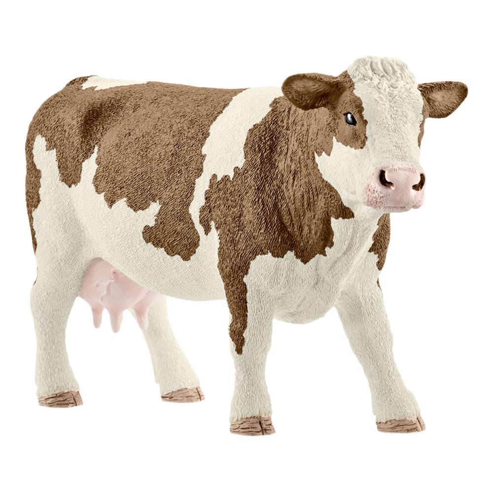 Schleich Farm Life Fleckvieh-Kuh Rind Kuh Bauernhof Spielfigur 7.7 cm 13801