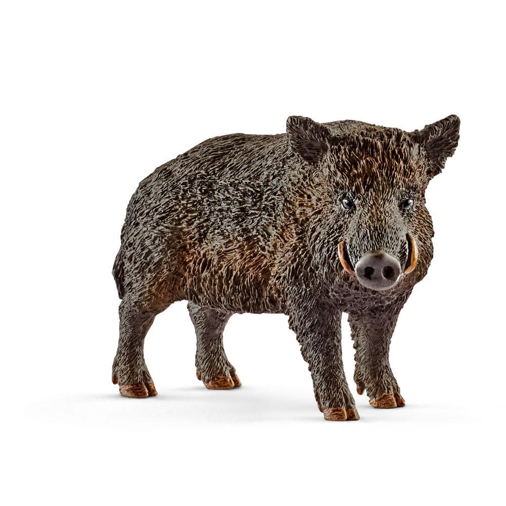 Schleich-Wild-Life-Wildschwein-Wild-Schwein-Wildtier-Spielfigur-7-4-cm-14783