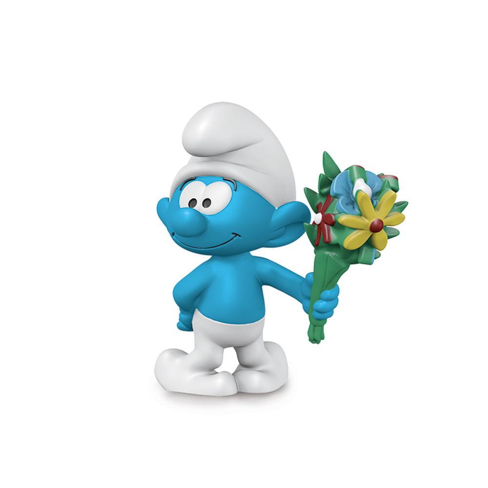 Schleich-The-Smurfs-Schlumpf-mit-Blumenstrauss-Schluempfe-Schlumpf-Spielfigur
