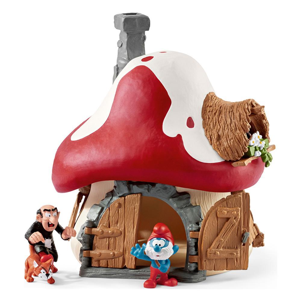 Schleich The Smurfs Schlumpfhaus mit 2 Figuren Schlümpfe Schlumpf Haus Spielzeug