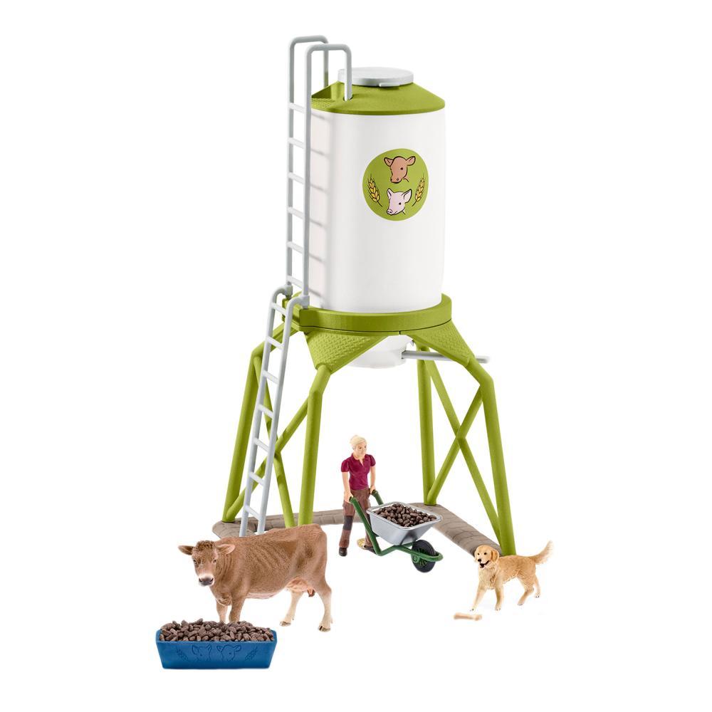 Forraje Silo con vida Schleich Granja Animales Granja de vacas Perro Granjero de alimentación 41429