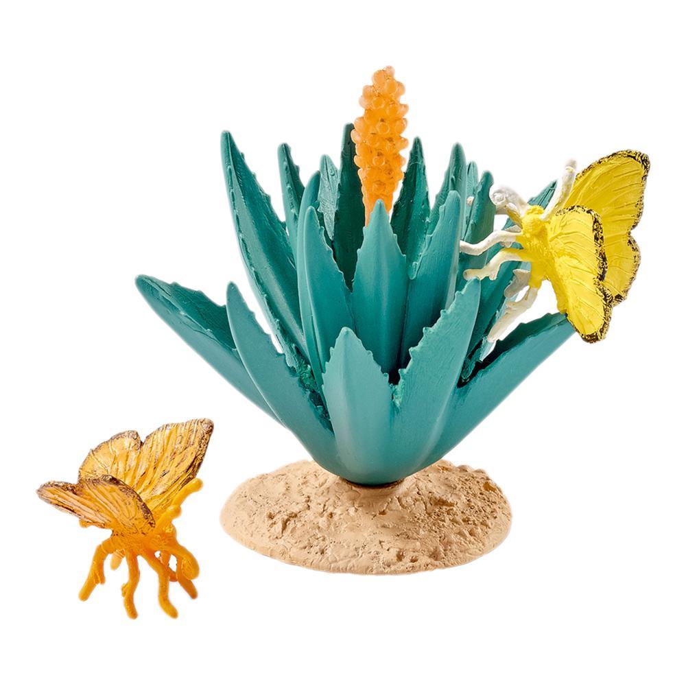 Schleich Wild Life Buttervolare Set, Agave, Animals, Plants, giocattolo, gioco Accessory