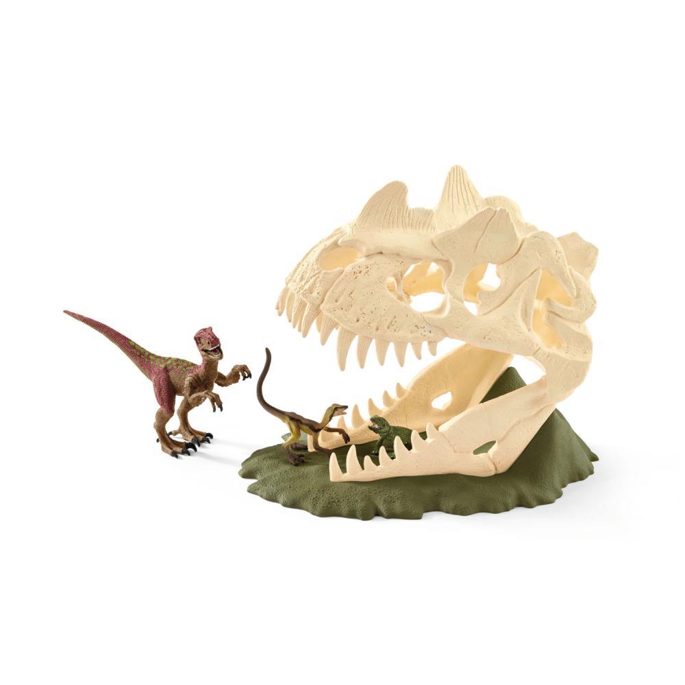 Schleich Dinosaurs Cráneo Grande con Velocirráptor Dinosaurio Dinosaurio Dinosaurio Dinosaurio Animal 8b878b