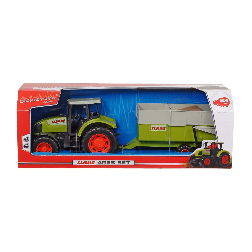 Dickie Toys Claas Ares Set Trattore Rimorchio paese macchina Kipper Giocattolo Auto