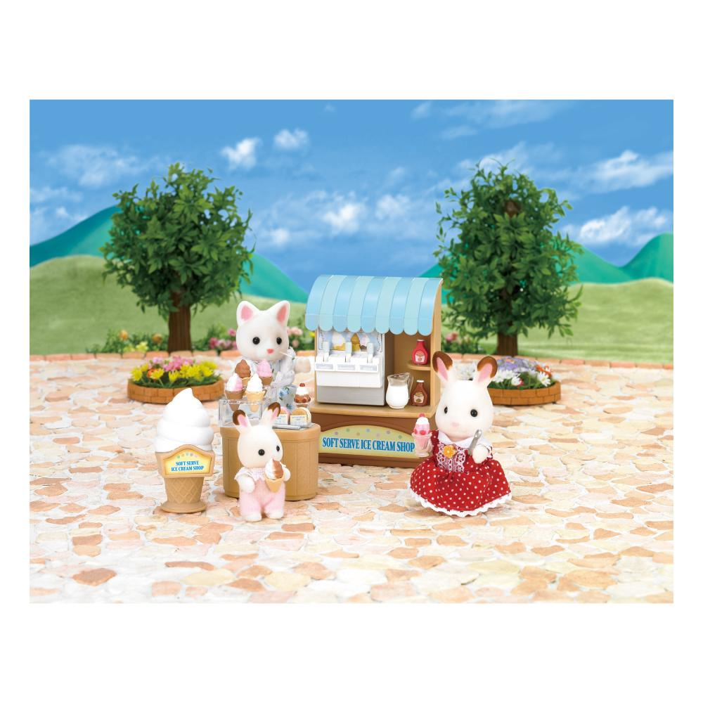 Sylvanian Families Soft Ice Cream Shop 'Ice Bar' Stand Van Figure H 7.3 cm 2811
