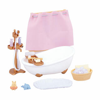 Sylvanian Families Bath And Shower Set Bath Shower Bathroom