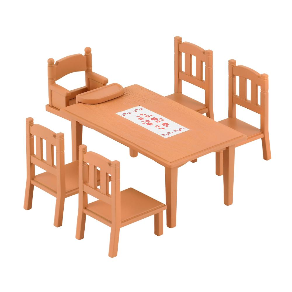Sylvanian-Families-Set-Comedor-Mesa-Muebles-Juego-de-Comida-Silla-Mesa-4506