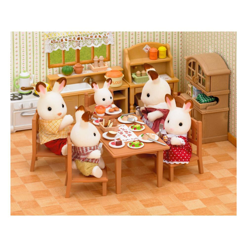 Sylvanian-Families-Set-Comedor-Mesa-Muebles-Juego-de-Comida-Silla-Mesa-4506 miniatura 5