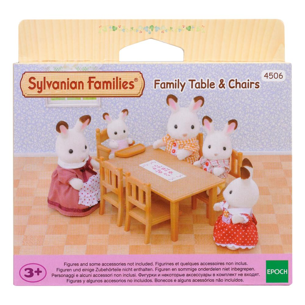 Sylvanian-Families-Set-Comedor-Mesa-Muebles-Juego-de-Comida-Silla-Mesa-4506 miniatura 6