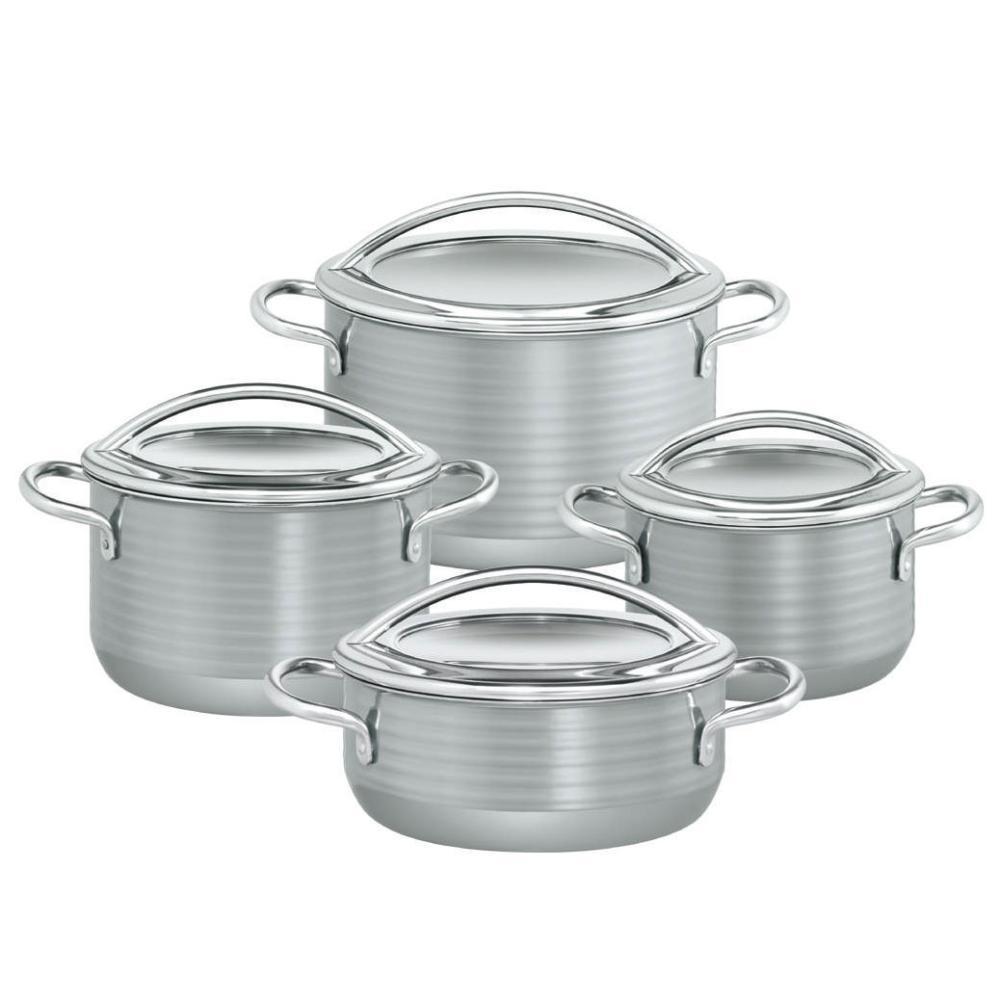 Silit-e30-Topf-Set-Stahl-amp-Hightech-Keramik-Braten-amp-Fleischtoepfe-4tlg-Vision