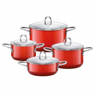 Silit Silargan Pan Set Cookware 4 Pieces Energy Red 15174812