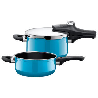 silit sicomatic econtrol duo pressure cooker set silargan mountain blue also. Black Bedroom Furniture Sets. Home Design Ideas