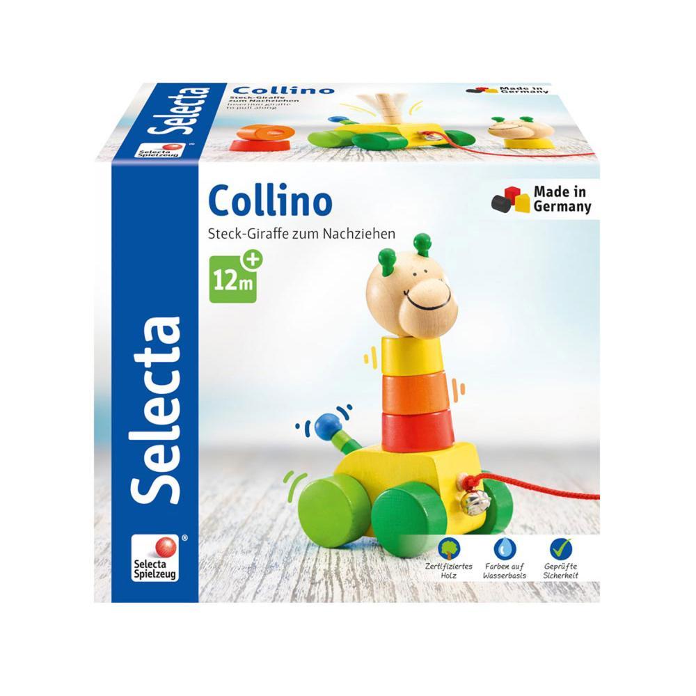 Selecta Spielzeug Collino Nachzieh + Stapel Schiebespielzeug Kleinkindspiel 18cm
