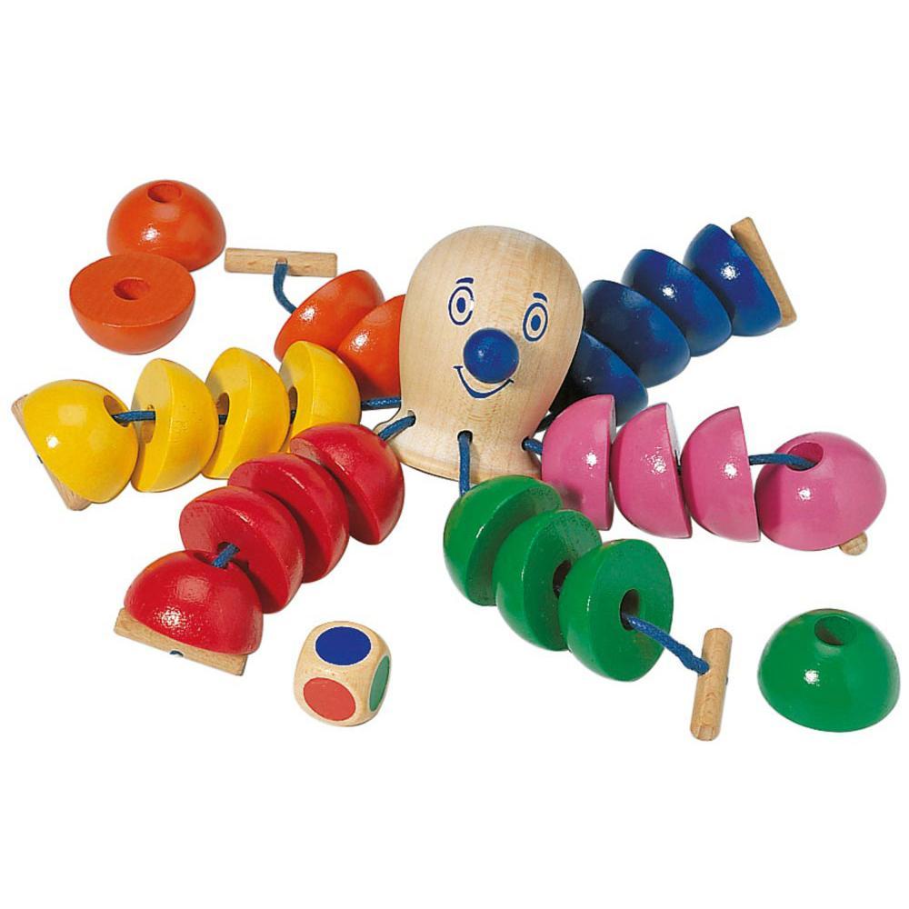 Selecta Spielzeug Der Kunterbunte Ottokar Würfel Spiel Kinderspiel Holz 20 cm