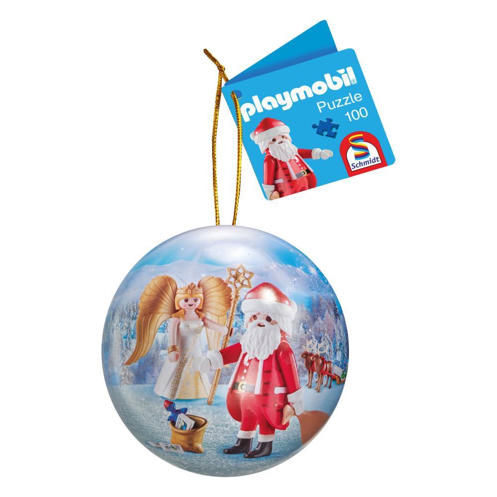 Schmidt Spiele Weihnachtskugel Playmobil Weihnachtsmann Puzzle Kugel 100 Teile