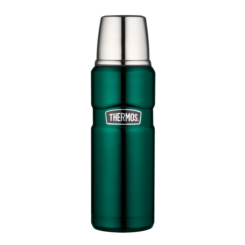 THERMOS Isolierflasche Stainless King Trink Flasche Edelstahl Pine Green 0.47L