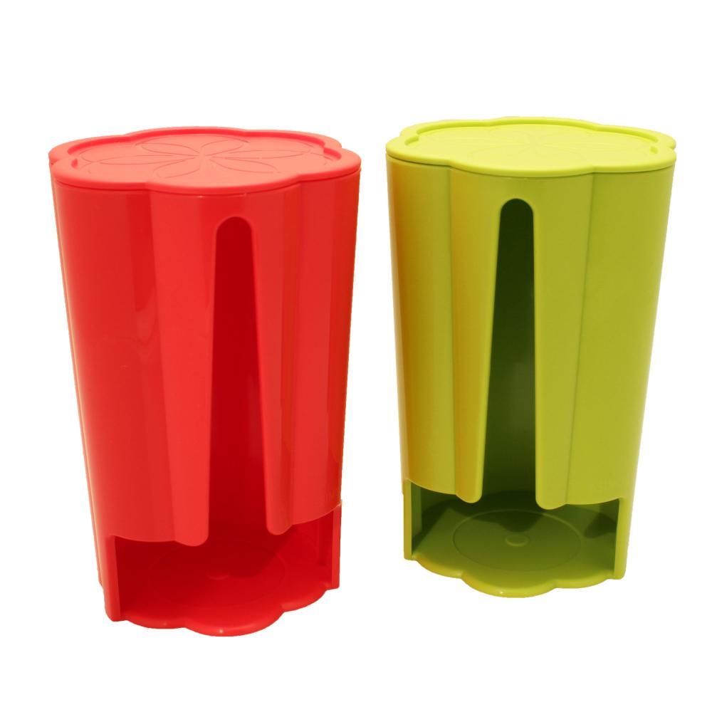 2 Tassimo Koziol Distributeur Stack T-Disc 8 T-Discs Capsules Café Vert Rouge