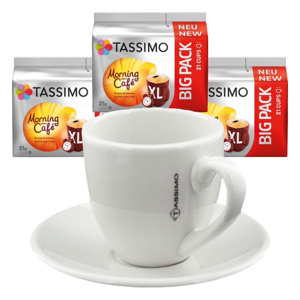 Tassimo Morning Cafe Xl Geschenkset Mit Tasse 4 Tlg Kaffee