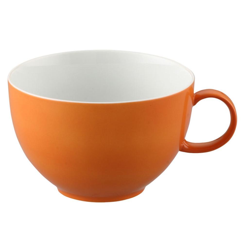 Thomas-Sunny-Day-Tasse-Jumbo-avec-Soucoupe-Porcelaine-Orange-45-cl-2-pces