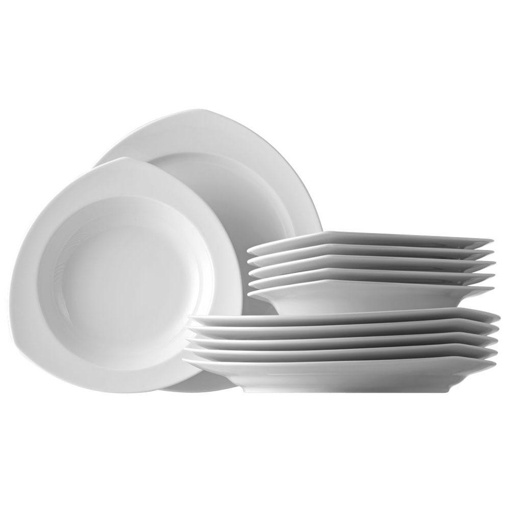 Service de Table 12 Pcs Thomas Vario Pure, Porcelaine Blanc Comp. Lave-Vaisselle