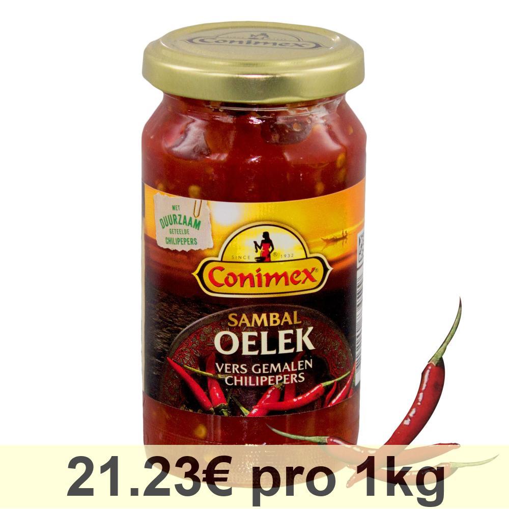 Conimex Sambal Oelek Pasta Indonesiana al Peperoncino Salsa Spezie Piccante 375g