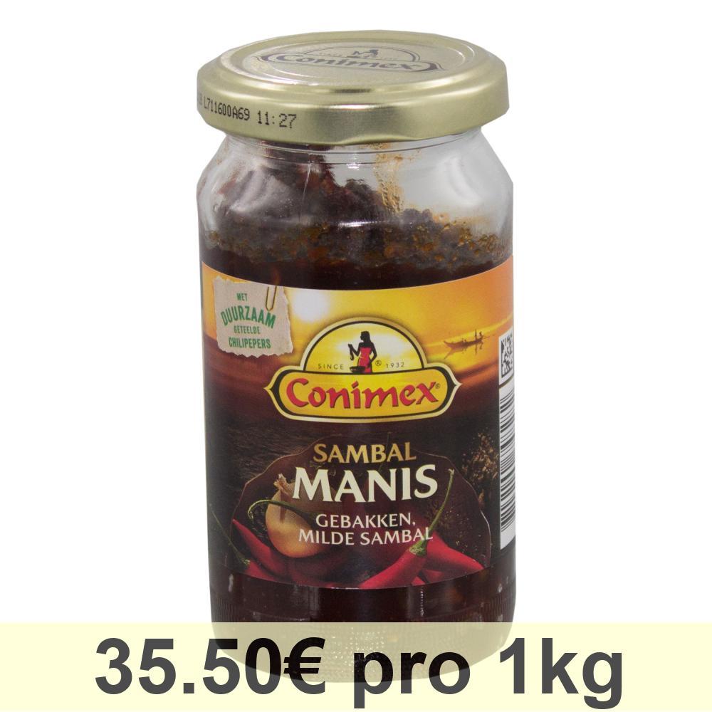 Conimex Sambal Manis, Salsa al Peperoncino Dolce, Condimento, Barattolo da 200g