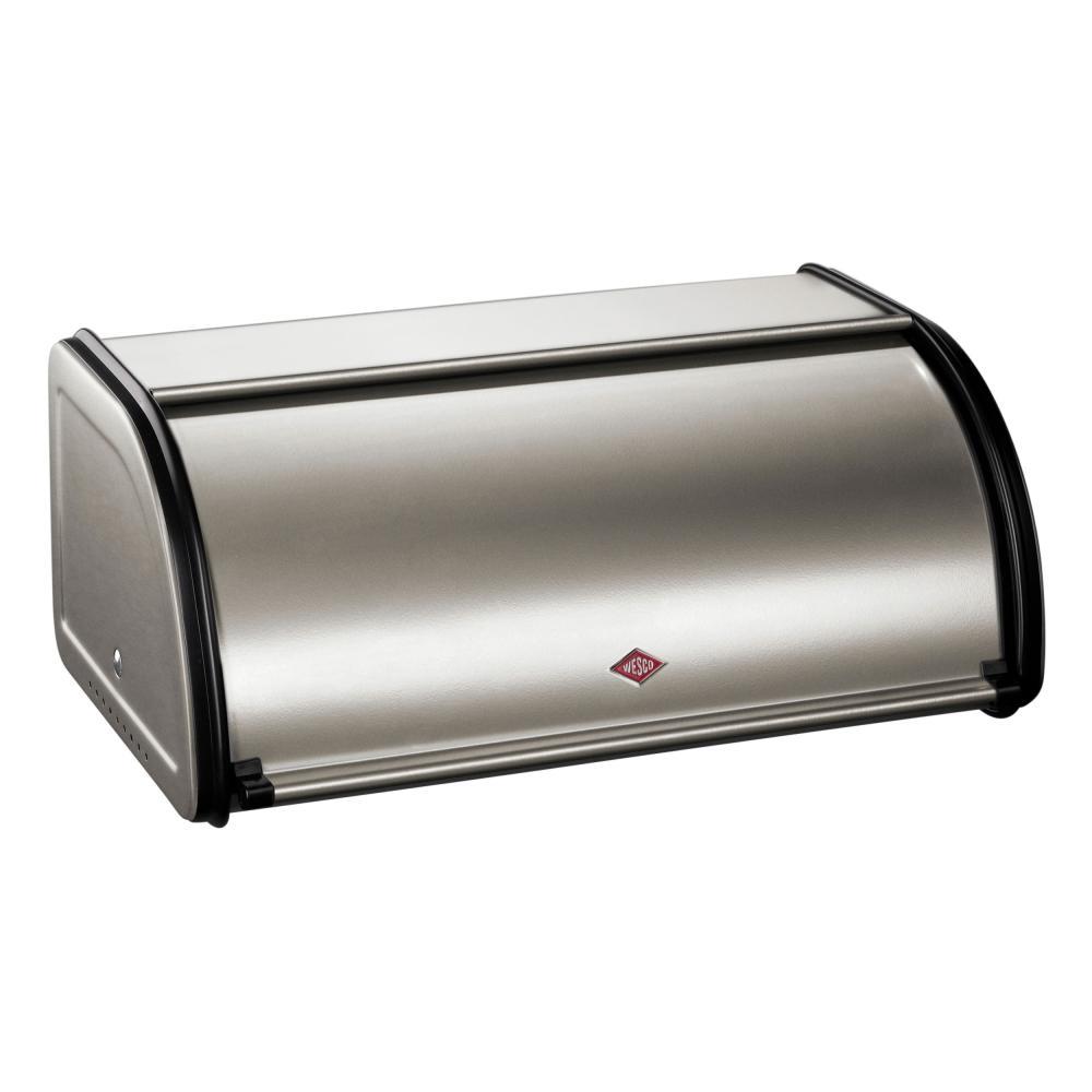 Wesco-Roll-bread-bin-Small-Bread-Box-Bread-Pot-Lunchbox-Nickel-Silver-Steel
