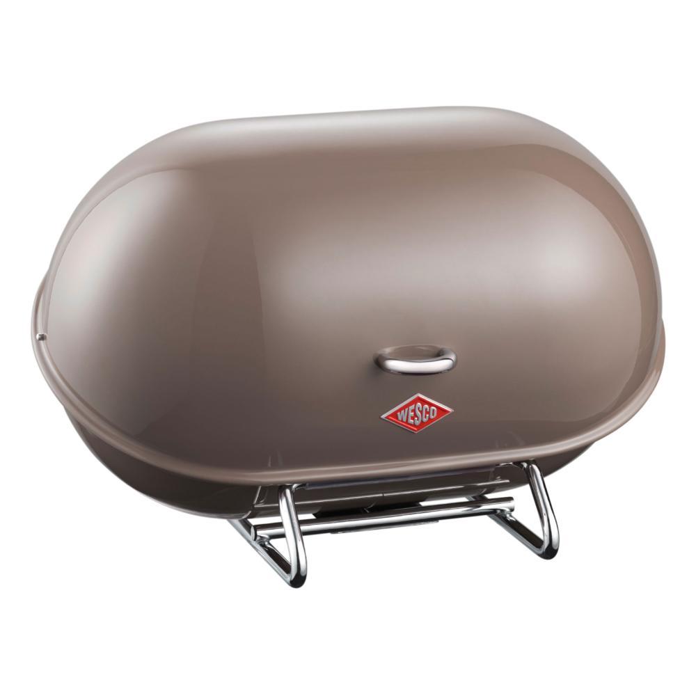Wesco-Single-Breadboy-Bread-Box-Bread-Pot-Lunchbox-Warm-Grey-Steel-222101-57