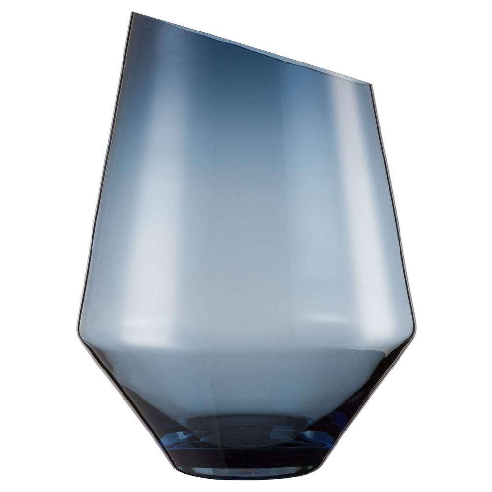 Zwiesel 1872 Diamonds, Jarrón 360, Vela, Vidrio Soplado, Azul Claro, A 36 cm