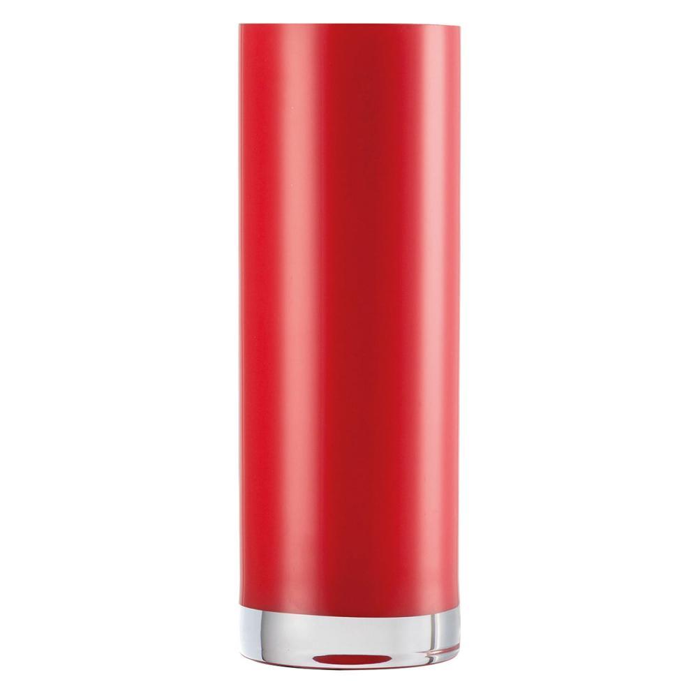 Zwiesel 1872 Domo Vase 300 Tischvase Blumenvase Zylindrisch Glas Rot H 30 cm