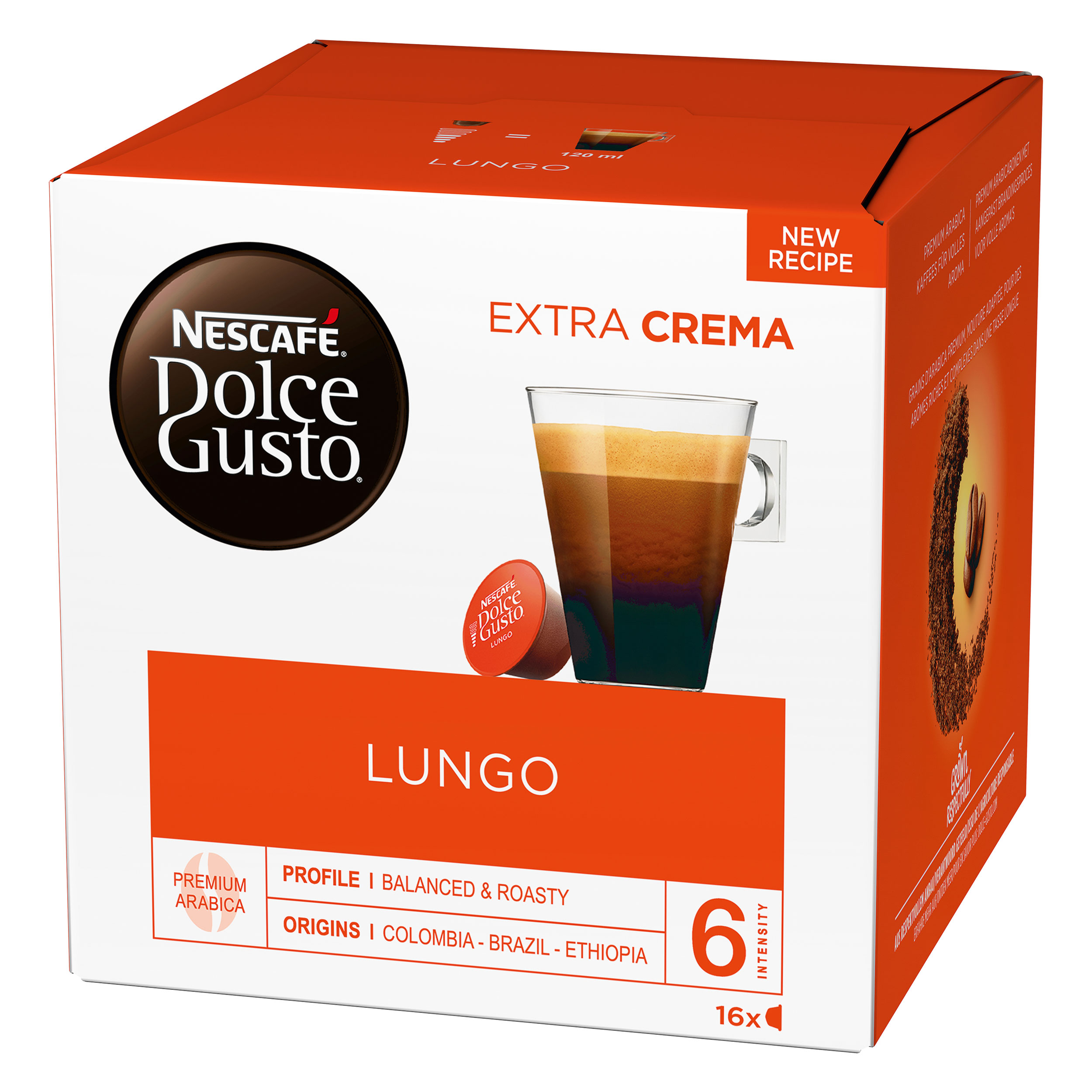 nescaf dolce gusto caff lungo 16 capsules at about shop. Black Bedroom Furniture Sets. Home Design Ideas