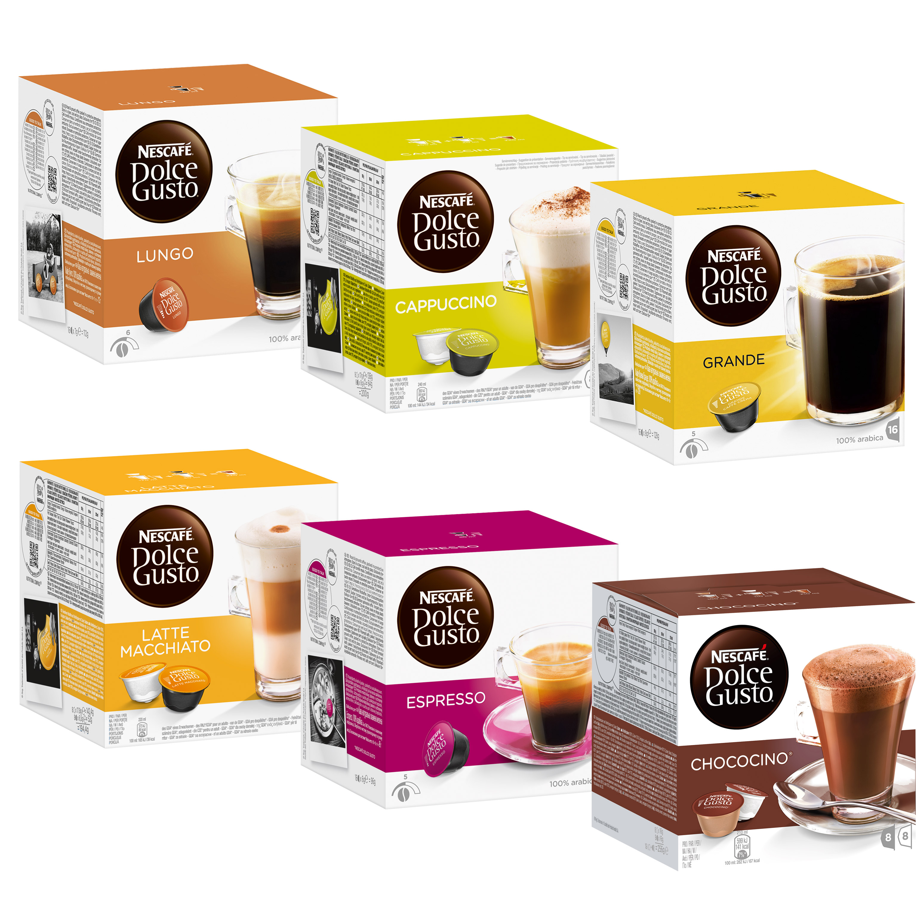 all in one set dolce gusto 96 capsules free choice at about shop. Black Bedroom Furniture Sets. Home Design Ideas