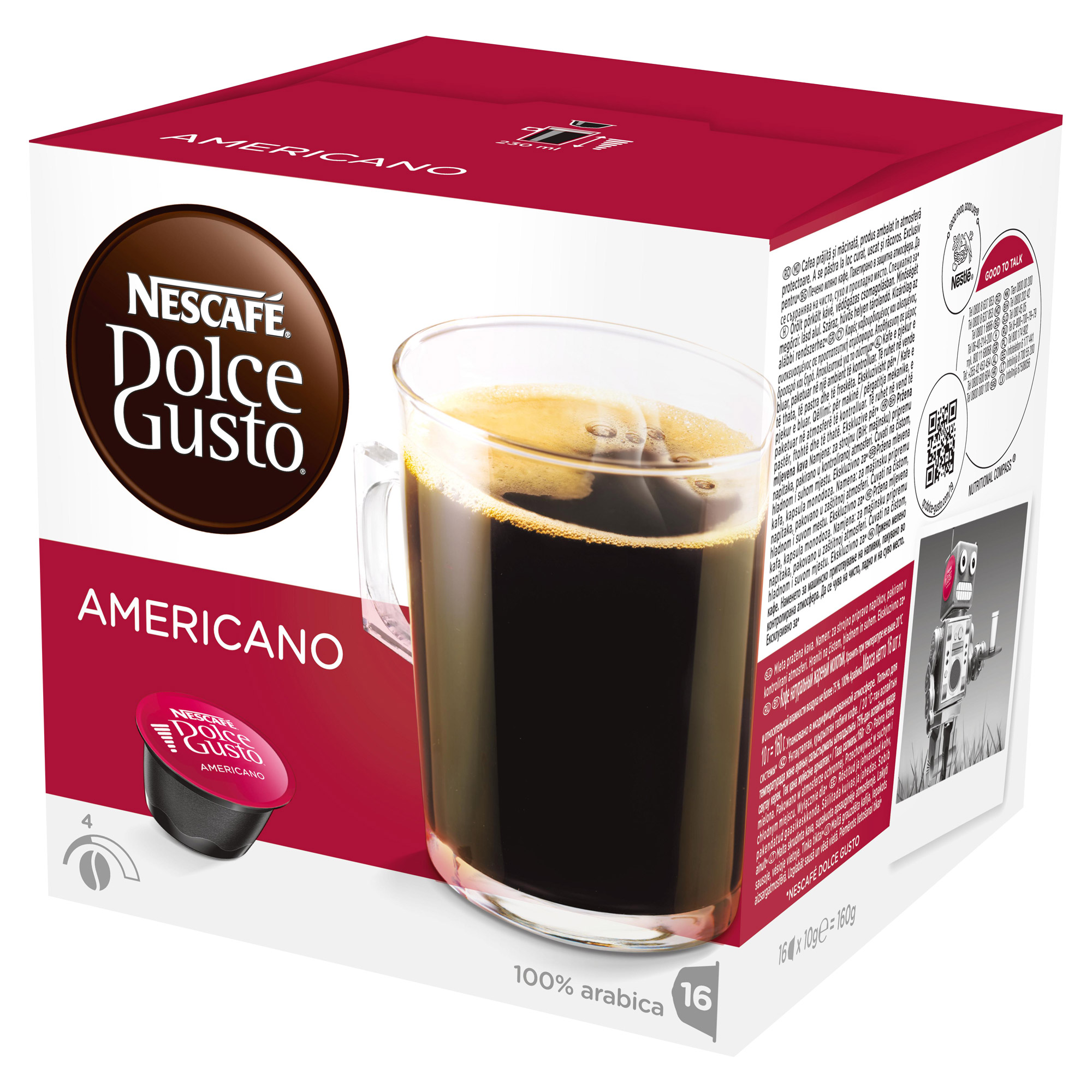 nescaf dolce gusto caff americano 16 capsules at about shop. Black Bedroom Furniture Sets. Home Design Ideas