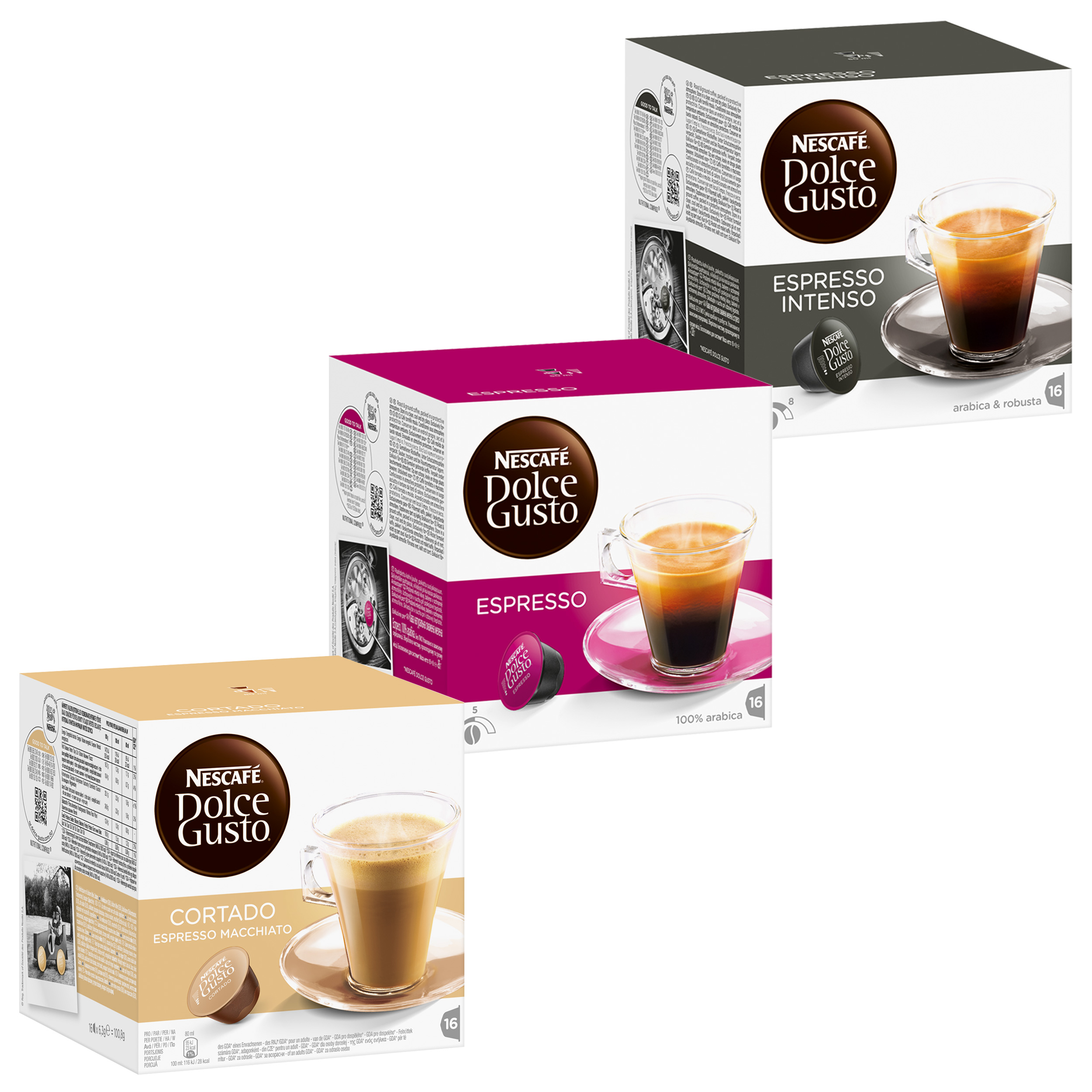 nescaf dolce gusto fortissimo set 3 varieties espresso 48 capsules at about shop. Black Bedroom Furniture Sets. Home Design Ideas
