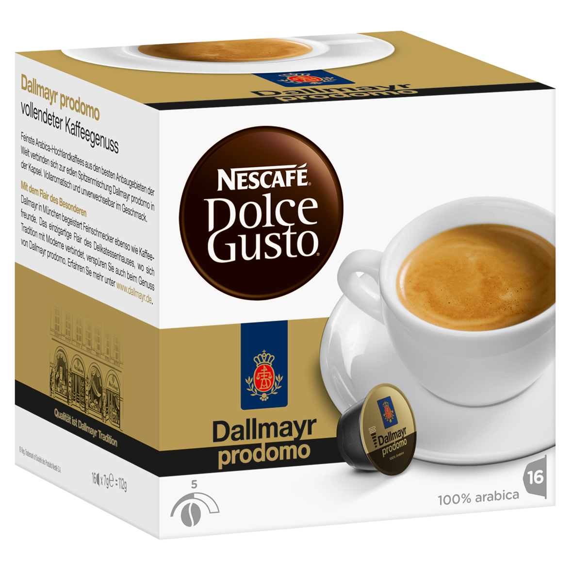 nescaf dolce gusto dallmayr prodomo 16 capsules at about shop. Black Bedroom Furniture Sets. Home Design Ideas