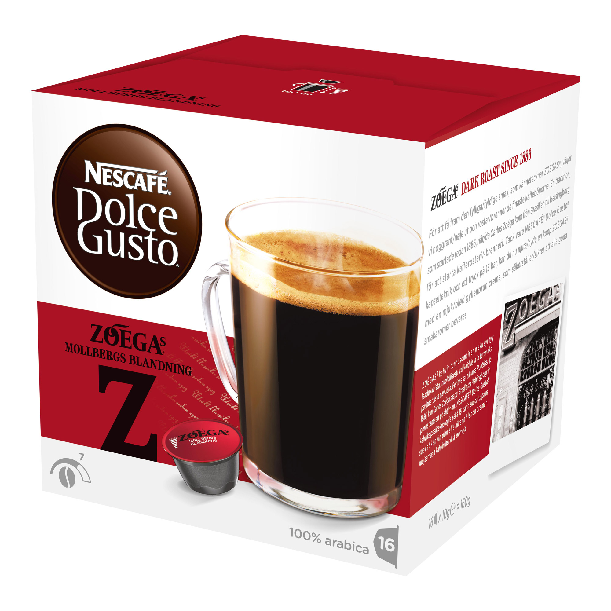 nescaf dolce gusto zoegas mollbergs blandning 16 capsules at about shop. Black Bedroom Furniture Sets. Home Design Ideas
