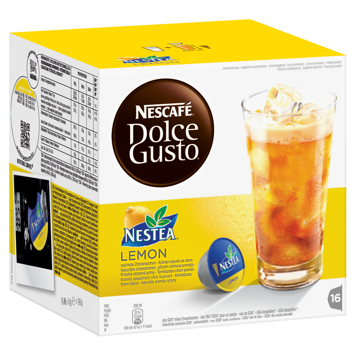 nescaf dolce gusto nestea lemon 16 capsules at about shop. Black Bedroom Furniture Sets. Home Design Ideas