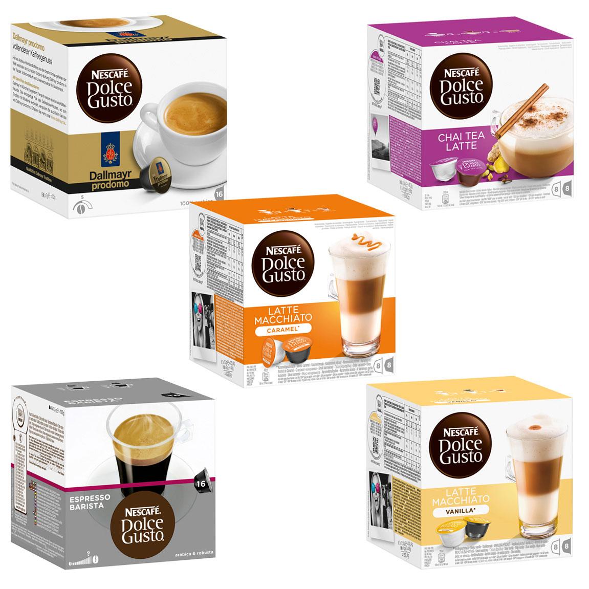 nescaf dolce gusto capsules exotic set 5 varieties 5 x. Black Bedroom Furniture Sets. Home Design Ideas