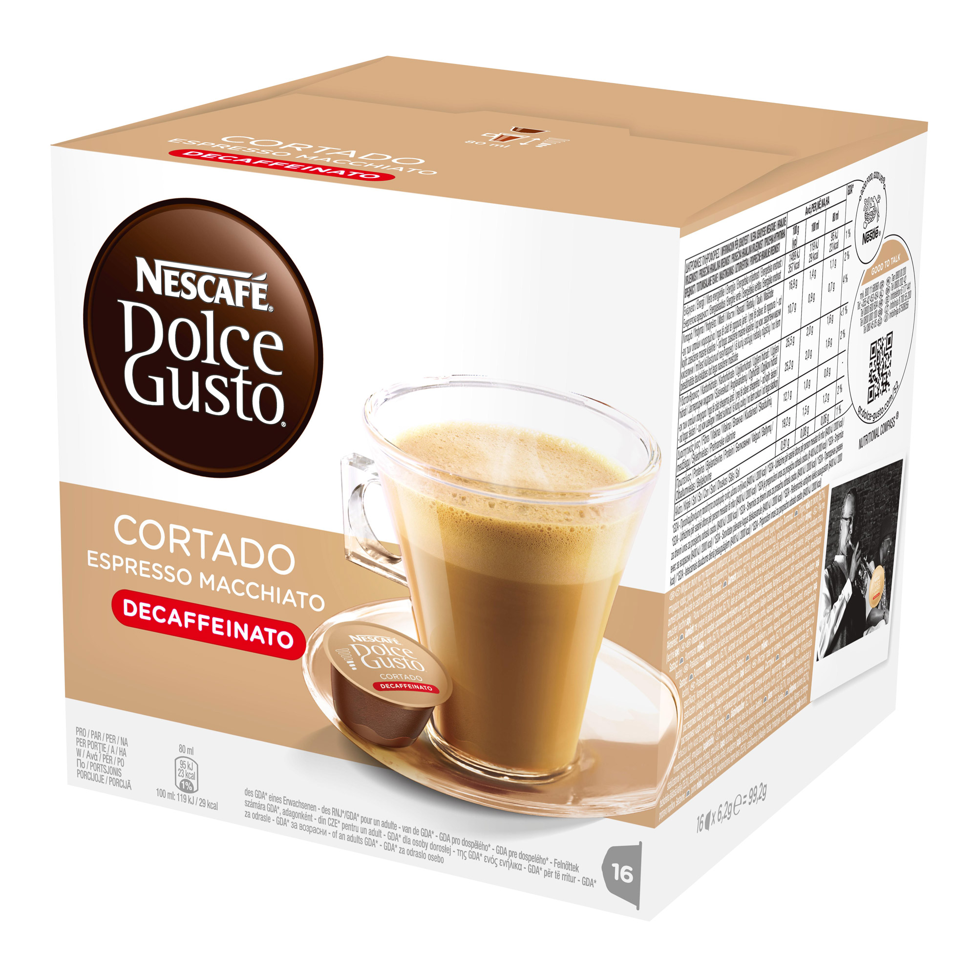nescaf dolce gusto espresso cortado decaff 16 capsules at about shop. Black Bedroom Furniture Sets. Home Design Ideas