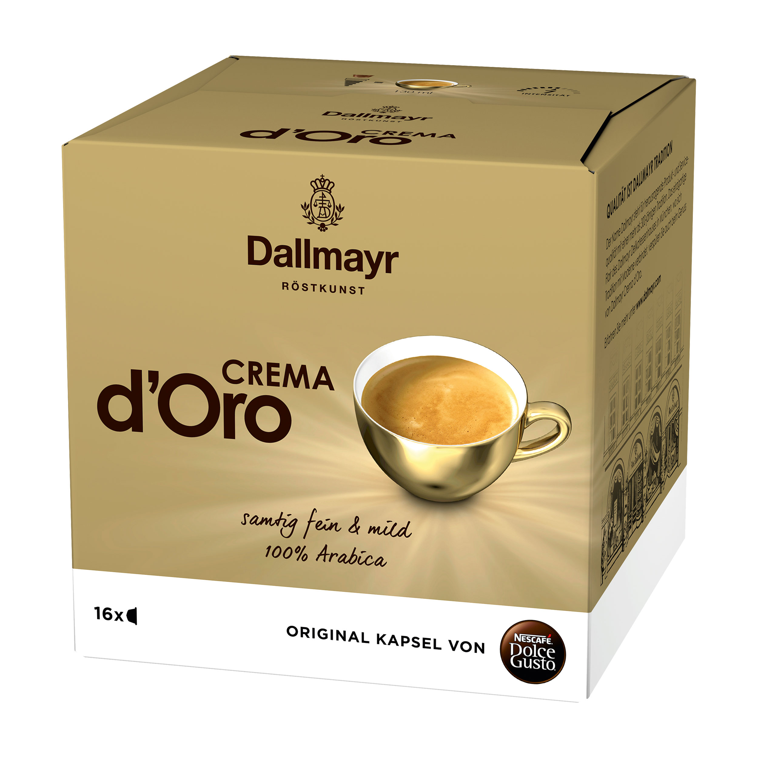nescaf dolce gusto dallmayr crema d oro 16 capsules at about shop. Black Bedroom Furniture Sets. Home Design Ideas