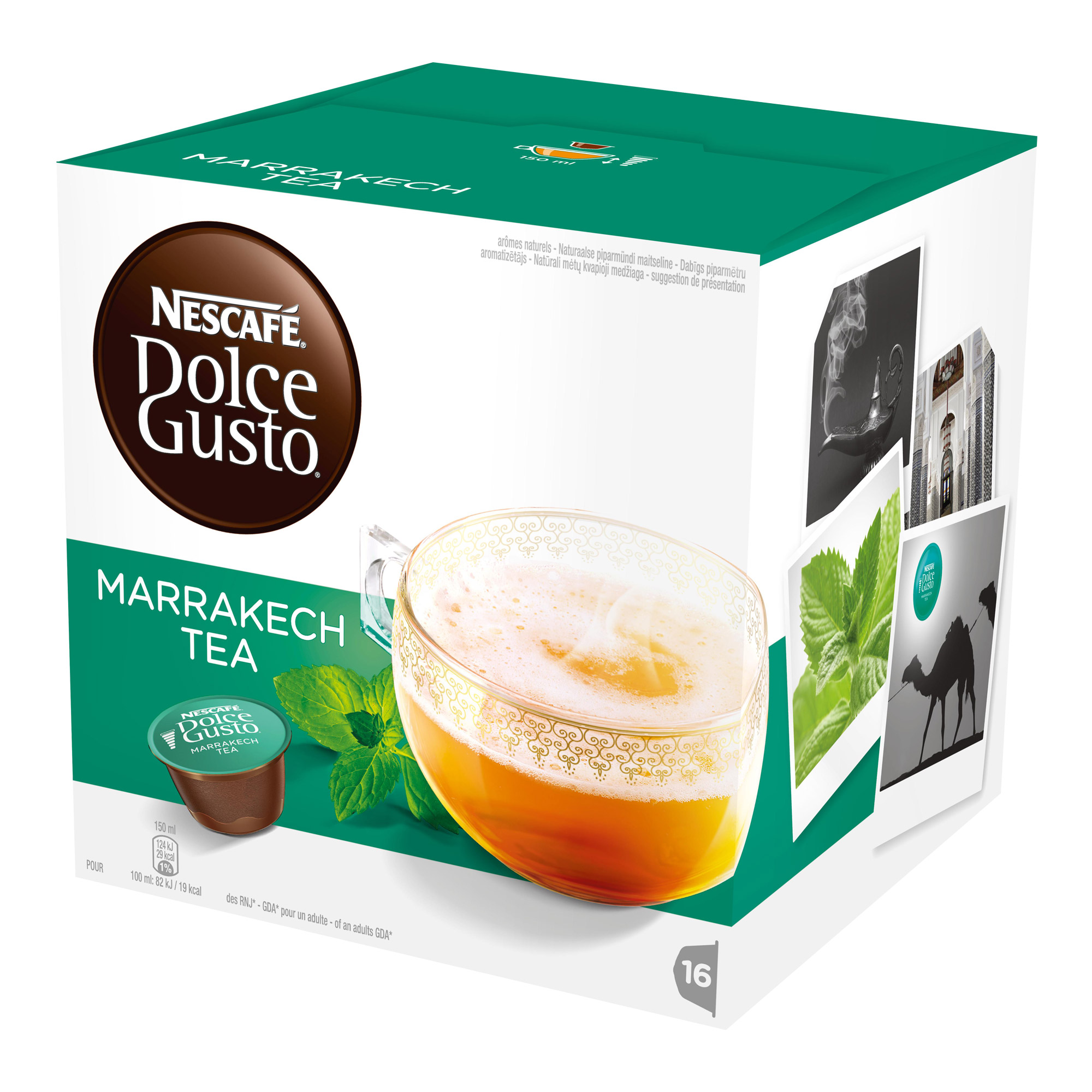 nescaf dolce gusto marrakesh style tea 16 capsules at about shop. Black Bedroom Furniture Sets. Home Design Ideas