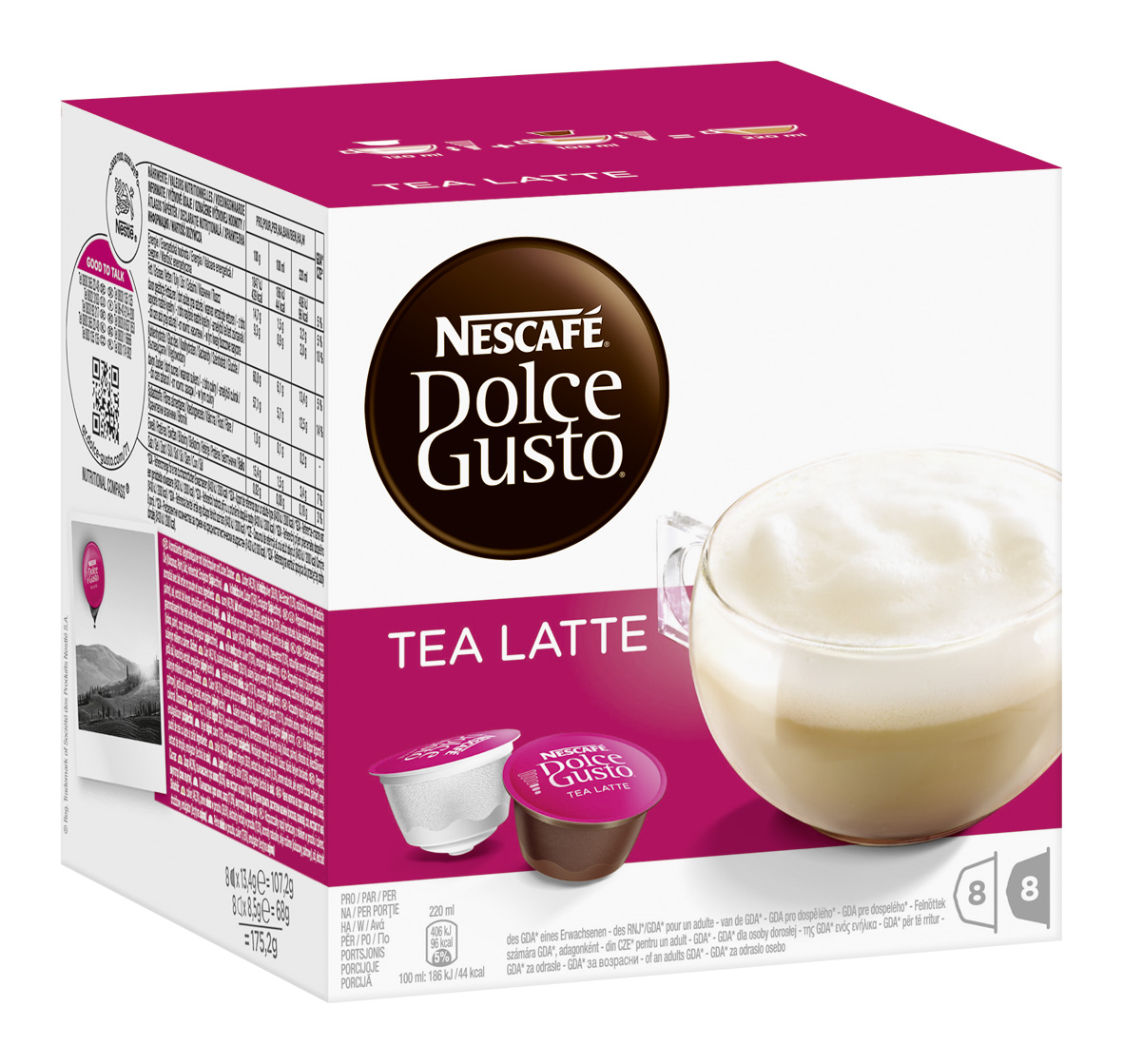 Nescafé Dolce Gusto Tea Latte, 16 Capsules (8 Servings) At